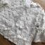 เสื้อผ้าเกาหลี พร้อมส่งเสื้อผ้าคอตตอนทับด้วยผ้าตาข่ายปักดอกไม้สีขาว thumbnail 6