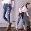 เสื้อผ้าเกาหลี พร้อมส่งกางเกงยีนส์ ทรงบอย ผ้ายีนส์ฮ่องกง thumbnail 8