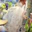 ชุดเดรสเกาหลี พร้อมส่งlong dress ผ้ามุ้งแขน 5 ส่วน thumbnail 3