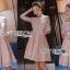 ชุดเดรสเกาหลี พร้อมส่งเดรสทรงเปิดไหล่ผ้าลูกไม้สีขาวทับผ้าสีชมพูโอลโรส thumbnail 8