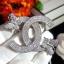 พร้อมส่ง Butterfly diamond Brooch thumbnail 2