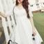 ชุดเดรสเกาหลี พร้อมส่งlong dress สีขาวยาว แขน 3 thumbnail 2