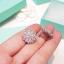 พร้อมส่ง Diamond earring ต่างหูเพชรฝังแท้ thumbnail 3