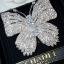 พร้อมส่ง big butterfly diamond Brooch เข็มกลัดเพชรทรงผีเสื้อ สไตส์ chanel thumbnail 1
