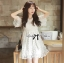 ชุดเดรสเกาหลี พร้อมส่ง มินิเดรสผ้าลูกไม้สไตล์เจ้าหญิง thumbnail 1
