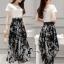 เสื้อผ้าเกาหลี พร้อมส่ง Zara White Top + Black Tiger Line Set thumbnail 7