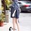 ชุดเดรสเกาหลีพร้อมส่ง Mira Lace Denim Cuite Dress thumbnail 4