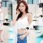 เสื้อผ้าเกาหลี พร้อมส่งSeoully Ivora Lace Long Outer thumbnail 2