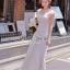 ( พร้อมส่งเสื้อผ้าเกาหลี) Korea Party Lux Long Maxi-Dress by Seoul Secret thumbnail 3
