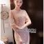 ชุดเดรสเกาหลี พร้อมส่งเดรสผ้าลูกไม้สีชมพูอ่อนสุดหรู thumbnail 3