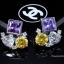 พร้อมส่ง ต่างหูเพชร CZ แท้ Fancy CZ Diamond thumbnail 2