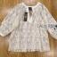 เสื้อผ้าเกาหลี พร้อมส่งเสื้อผ้าลูกไม้สีขาวงาช้างสไตล์ลำลอง ต thumbnail 11