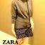 ZARA สะพายข้าง ประดับหมุด สุด Chic thumbnail 1