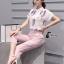 เสื้อผ้าเกาหลี พร้อมส่ง Cat Walk Top + Pinky Pant Set thumbnail 1