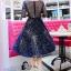 ชุดเดรสเกาหลี พร้อมส่งGalaxy Diamond Luxury Dress thumbnail 6