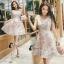 ชุดเดรสเกาหลีพร้อมส่ง Joy Happy Life Luxury Dress thumbnail 3