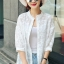 เสื้อผ้าแฟชั่น พร้อมส่งKorean Summer Time Lace Shirt thumbnail 1