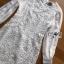 ชุดเดรสเกาหลี พร้อมส่งเดรสผ้าลูกไม้แขนชีฟองสีขาวสไตล์เฟมินีน thumbnail 7