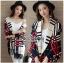 เสื้อผ้าเกาหลี พร้อมส่งเสื้อคลุมผ้นคอลายสก็อต thumbnail 8