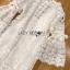 ชุดเดรสเกาหลี พร้อมส่งเดรสผ้าลูกไม้สีขาวสไตล์คลาสสิกเฟมินีน thumbnail 16