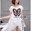 เสื้อผ้าเกาหลี พร้อมส่งเสื้อตัวยาวผ้าชีฟองปักลายผีเสื้อ thumbnail 6