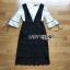 เสื้อผ้าแฟชั่น พร้อมส่งเสื้อผ้าลูกไม้สีขาวทับด้วยเดรสสีดำตกแต่งลูกไม้ thumbnail 9