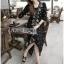 ชุดเดรสเกาหลี พร้อมส่งเดรสยาวผ้าชีฟองปักลายสไตล์บีช thumbnail 4