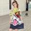 เสื้อผ้าแฟชั่นเกาหลีพร้อมส่ง Oversize t-shirt สกรีนลายการ์ตูนหน้าน้องหมาทั้งหน้า-หลัง thumbnail 1