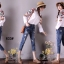 เสื้อผ้าเกาหลี พร้อมส่งกางเกงยีนส์ ทรงบอย ผ้ายีนส์ฮ่องกง thumbnail 4
