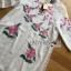 ชุดเดรสเกาหลีพร้อมส่ง เดรสสีขาวปักลายดอกกุหลาบอังกฤษสีชมพู thumbnail 10