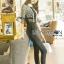 Babara Smart Casual Black & White Ruffle Lace Jumpsuit thumbnail 2