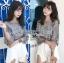 เสื้อผ้าเกาหลีพร้อมส่ง เสื้อผ้าลูกไม้ทอลายดอกไม้พร้อมซับในสายเดี่ยว thumbnail 6