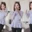 เสื้อผ้าเกาหลี พร้อมส่งเสื้อแขนยาวผ้าลูกไม้สีพาสเทลสไตล์เบสิก thumbnail 5
