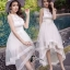 ชุดเดรสเกาหลี พร้อมส่ง Long Dress ช่วงบนทำด้วยผ้าตาข่ายลายลูกไม้ thumbnail 6