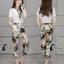 เสื้อผ้าเกาหลี พร้อมส่งWhite Shirt + Color Camo Pant Set thumbnail 3