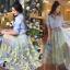 เสื้อผ้าเกาหลี พร้อมส่งAzura Skyblue Shirt + Embroidered Luxury Skirt thumbnail 7
