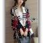 เสื้อผ้าเกาหลี พร้อมส่งเสื้อคลุมผ้นคอลายสก็อต thumbnail 2