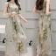 เสื้อผ้าเกาหลี พร้อมส่งเดรสสีขาวพิมพ์ลายดอกไม้โทนสีเทา thumbnail 8