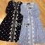 ชุดเดรสเกาหลี พร้อมส่งเดรสยาวผ้าชีฟองปักลายสไตล์บีช thumbnail 10