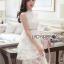 ชุดเดรสเกาหลี พร้อมส่งเดรสผ้าลูกไม้สีขาวตกแต่งเลเยอร์สุดเก๋ thumbnail 4