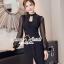 Elegantly Black Chiffon Sleeve Dress thumbnail 4
