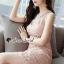 ชุดเดรสเกาหลี พร้อมส่งPastel Pinky Cami Lace Dress thumbnail 1