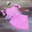 เสื้อผ้าแฟชั่นเกาหลี พร้อมส่งSET ผ้า tweed สีชมพูหวานน thumbnail 5