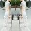 ชุดเดรสเกาหลี พร้อมส่งเดรสยาวผ้าลูกไม้สีขาวตัดต่อผ้าทูลล์สุดคลาสสิก thumbnail 3