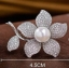 พร้อมส่ง Diamond Brooch เข็มกลัดเพชรประดับมุกทรงดอกไม้ thumbnail 1