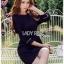 Tanna Crystal Embellished Draped Black Dress thumbnail 5