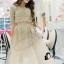 เสื้อผ้าเกาหลี พร้อมส่งGolden Lady Embroidered Luxury Top + Long Skirt Set thumbnail 3