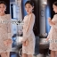 ชุดเดรสเกาหลี พร้อมส่งเดรสผ้าลูกไม้สีขาวซับในสีนู้ดตกแต่งแขนชิฟฟอน thumbnail 4