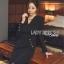 Rachel Smart & Golden buttons Sexy Black Dress thumbnail 3