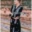 ชุดเดรสเกาหลี พร้อมส่ง เดรสสีดำปักลายลูกน้ำสไตล์โบฮีเมียน thumbnail 2
